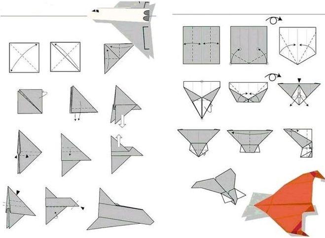 Как из бумаги сделать необычный самолет - Nastolnyje-nabory.ru