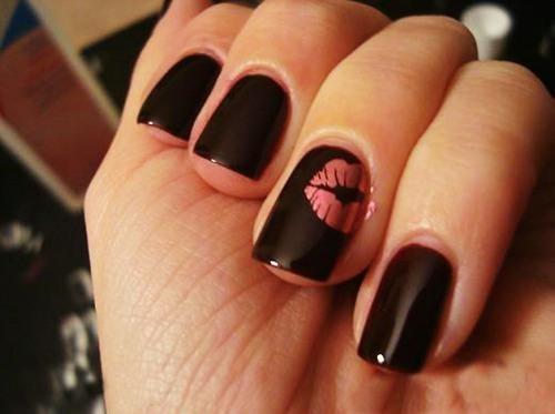 Дизайн ногтей фото с поцелуем