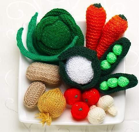 Как вязать овощи, фрукты?