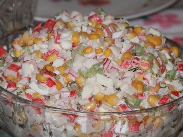Найти рецепт салата крабовые