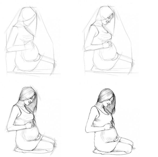 Картинки рисуем поэтапно девушек