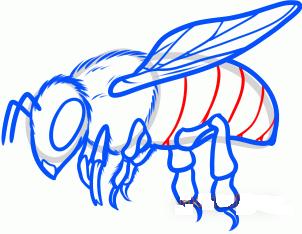 нарисовать пчелу 9