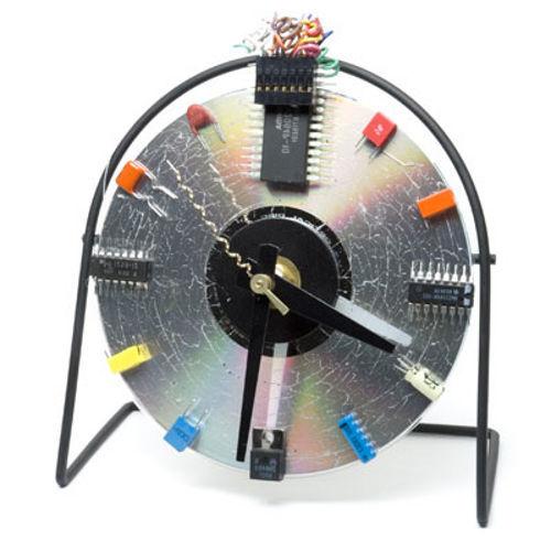 Как сделать часы из дисков