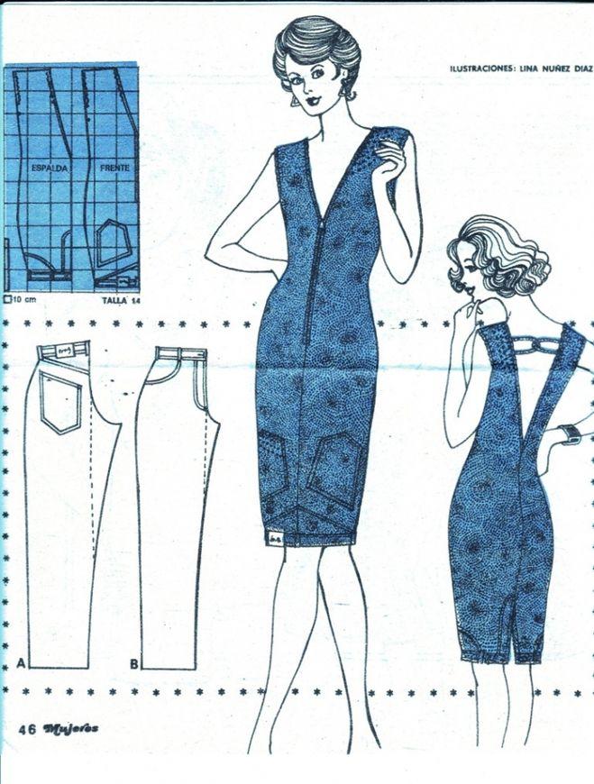 Как сшить платье своими руками из джинсовой ткани