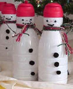 Поделки из пластиковых бутылок для нового года своими руками