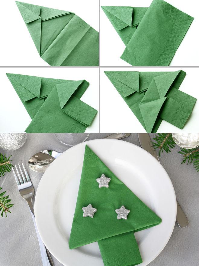 Сделать елочку из бумажных салфеток своими руками