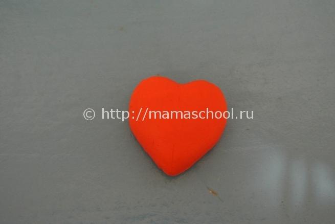 Как сделать своими руками сердце из пластилина 87