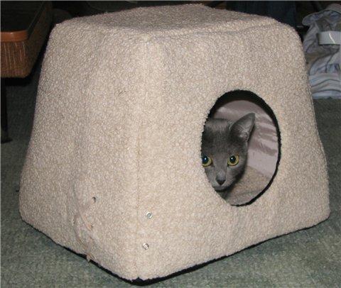 Лежак домик для кота своими руками - Xaxatalka.ru