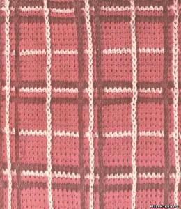 Жаккард для тунисского вязания