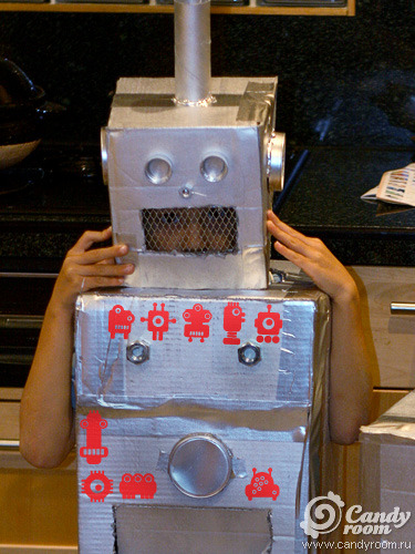 Костюм робота для девушки