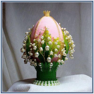 Яйца фаберже из бисера мастер класс фото #14