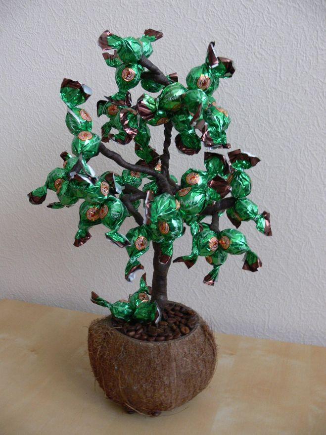 Конфетное дерево своими руками пошаговое фото