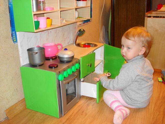 Как сделать кухню для для детей